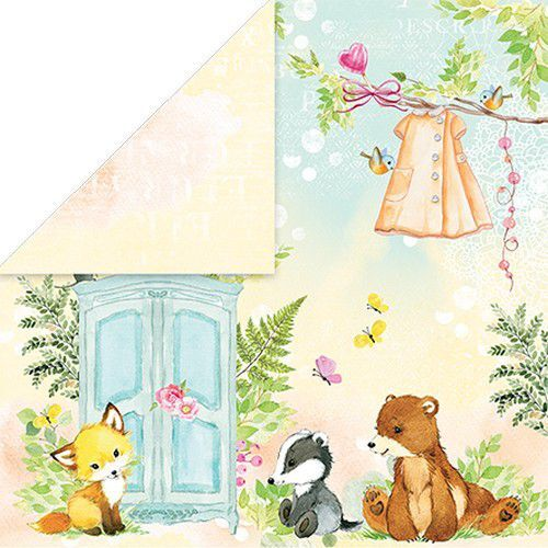 Craft&You Woodland Story Scrapbooking single paper 12x12 CP-WS02 (10-21)