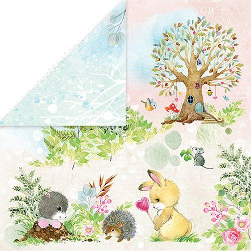 Craft&You Woodland Story Scrapbooking single paper 12x12 CP-WS03 (10-21)