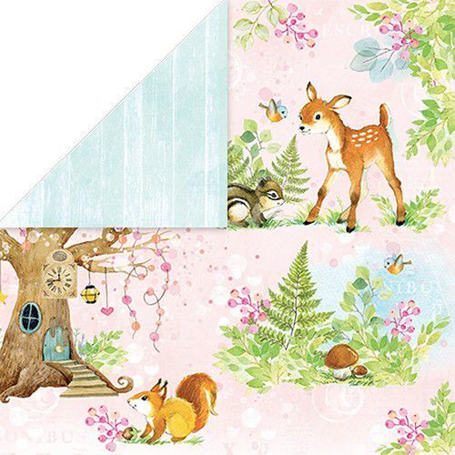 Craft&You Woodland Story Scrapbooking single paper 12x12 CP-WS04 (10-21)