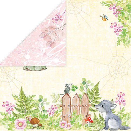 Craft&You Woodland Story Scrapbooking single paper 12x12 CP-WS05 (10-21)