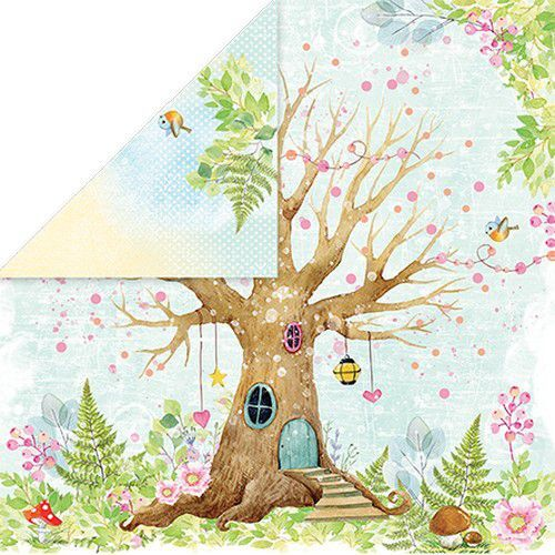 Craft&You Woodland Story Scrapbooking single paper 12x12 CP-WS06 (10-21)