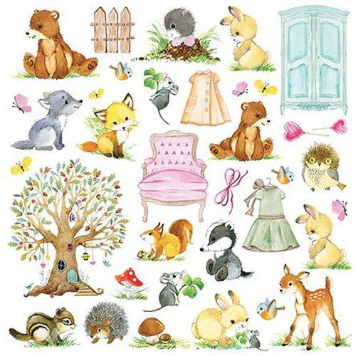 Craft&You Woodland Story sheet elements to cut out 12x12 CP-WS08 (10-21)