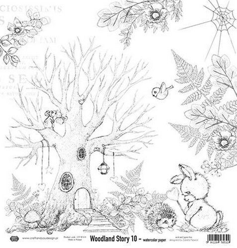 Craft&You Woodland Story Watercolor paper 250gr. 12x12 CP-WS10 (10-21)