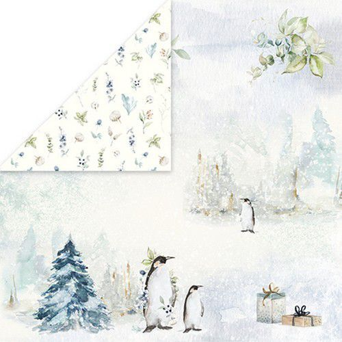 Craft&You Arctic Winter Scrapbooking single paper 12x12 CP-AW02 (10-21)
