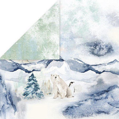 Craft&You Arctic Winter Scrapbooking single paper 12x12 CP-AW04 (10-21)