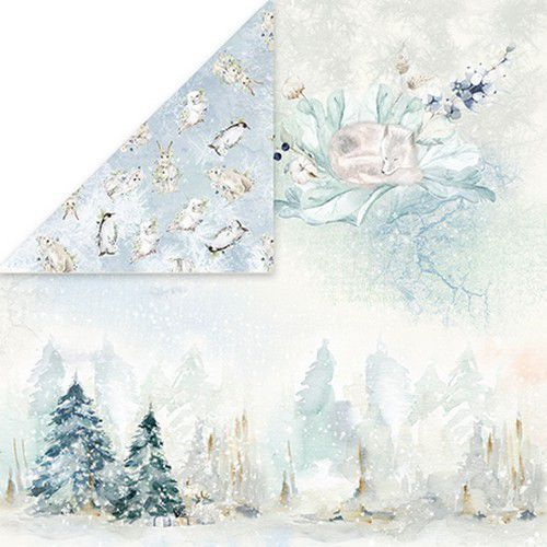 Craft&You Arctic Winter Scrapbooking single paper 12x12 CP-AW05 (10-21)