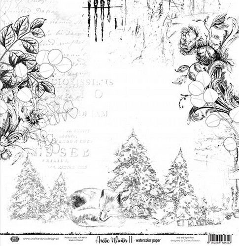 Craft&You Arctic Winter Watercolor paper 250gr. 12x12 CP-AW11 (10-21)