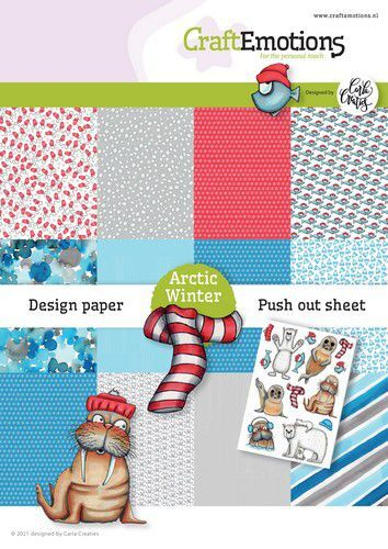 CraftEmotions Design Arctic Winter 12 vel + push out vel - A5 A5 12+1 (10-21)