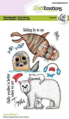 CraftEmotions clearstamps A6 - Arctic Winter 1 (Eng) Carla Creaties (10-21)