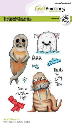 CraftEmotions clearstamps A6 - Arctic Winter 3 (Eng) Carla Creaties (10-21)