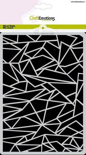 CraftEmotions Mask stencil Arctic Winter - ijsschotsen A5 Carla Creaties (10-21)