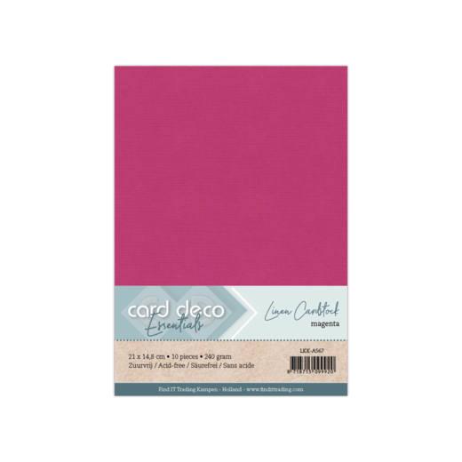 Linen Cardstock - A5 - Magenta