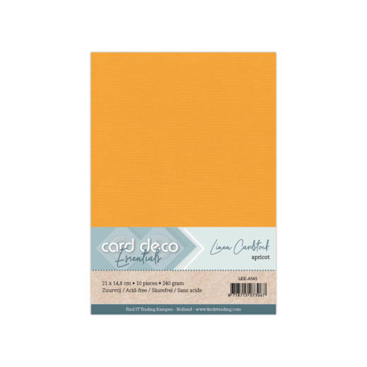 Linen Cardstock - A5 - Apricot