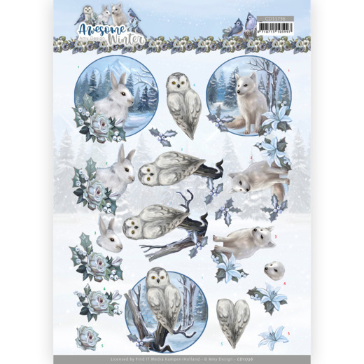 3D Cutting Sheet - Amy Design - Awesome Winter - Winter Animals