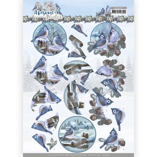 3D Cutting Sheet - Amy Design - Awesome Winter - Winter Birds