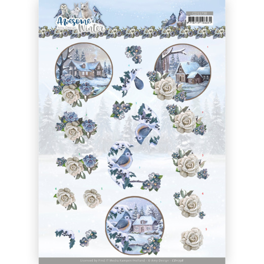 3D Cutting Sheet - Amy Design - Awesome Winter - Winter Village