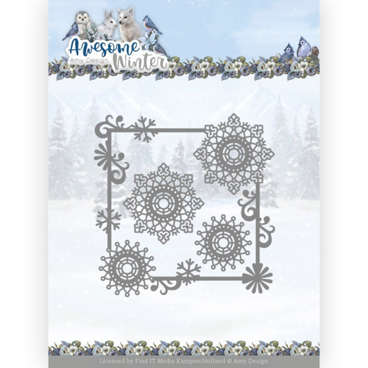 Dies - Amy Design - Awesome Winter - Winter Swirl Square