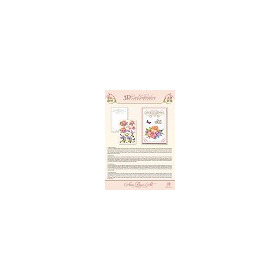 3D Card Embroidery Pattern Sheet 14 Blue Lily