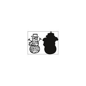 Craftables stencil filigree snowman #AUG14
