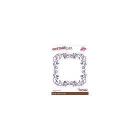 Scrapping Cottage Cottage Cutz Bella Floral Frame 4x4 Inch