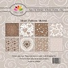 Dixi Paper Pack 15x15 cm brown heart pattern