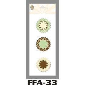 FFA-33 Spring Felt Flowers Chocolate Mint