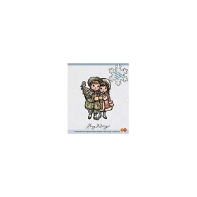 Amy Design - Clear Stamp - Christmas couple