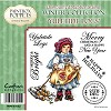Paintbox Poppets Winter Collection Rubber Stamp - Yuletide Logs
