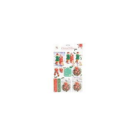 A4 Foiled Decoupage Pack - Christmas Tidings 2