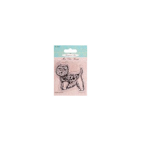 Mini clear stamps - Pampered Pets (highland terrier)