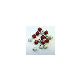Christmas Bells 8mm Rood en Wit 12239-3931