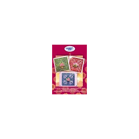 3d Maxi Sticker sets - Set 3 Vierkant met bloemen