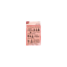 Clear stamps tekst ENG- Merry christmas