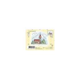 Clear stamp winter landscape church