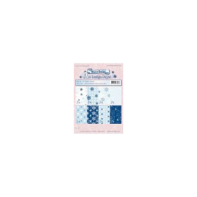 Winter design papier ass A5 blauw-wit
