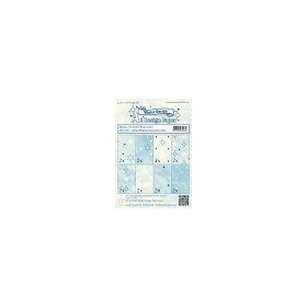 Winter design papier assortiment blue tones 16xA5
