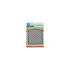 Craftables stencil trellis panel #FEB14