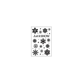 Embossing folder let it snow