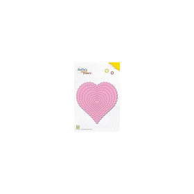 Nellie`s Multi Frame Die Large wavy heart
