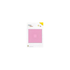 Nellie`s Multi Frame Die Large wavy square
