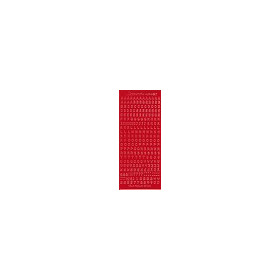 Clippunch alfabet sticker 121001-2230 rood