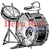 Deep Red Drum Set Truck Cling Stamp