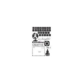 SCHOOL MEMORIES Cling Stamp Set Prima Marketing