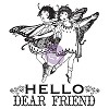 Princess Set 2 #951061 Prima Marketing clear stamps Hello Friend