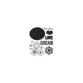 Prima Marketing Free Spirit #2 Clear Mini Stamp - Love Dream