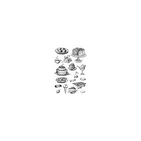 Studio Light Clear Stempel, A5, Nr 73, Taart