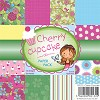 1 PK (1 PK) 6x6  Paper PackCherry Cupcake Papers