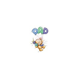 1 ST (1 ST) A7 stamp set Dad Balloons