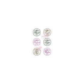 1 ST (1 ST) A7 stamp set Circle Greetings