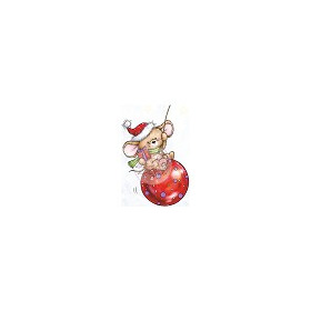 Wild Rose Studio`s A7 stamp set Mouse on Bauble
